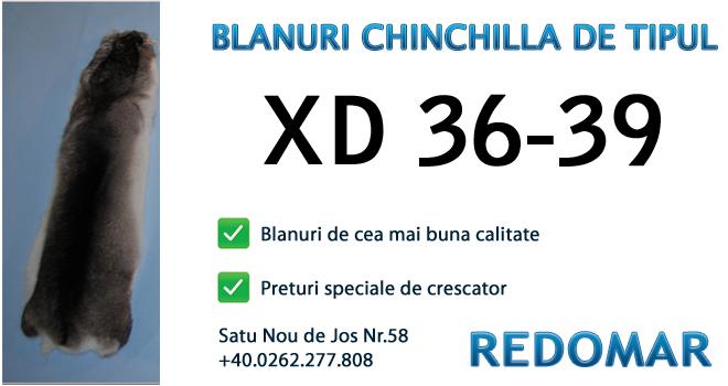 Blanurile de chinchilla de tipul xd 36-39 - Redomar SRL