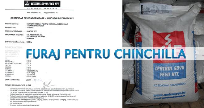 Furaj pentru chinchilla - certificat de conformitate - Redomar SRL